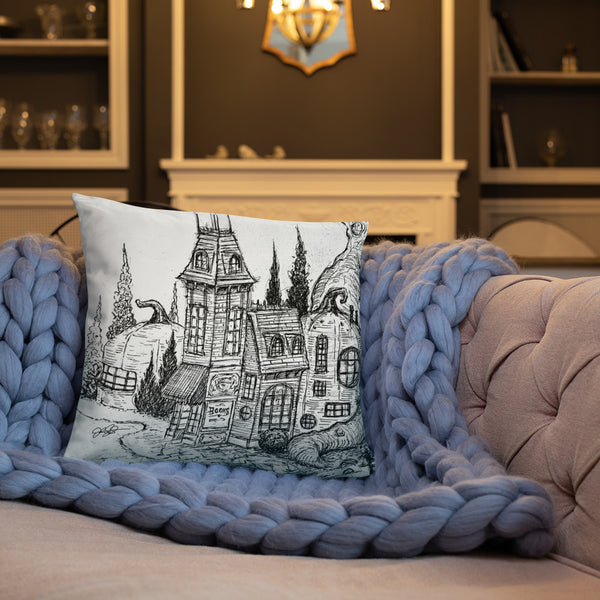 Pumpkinville Square Pillow