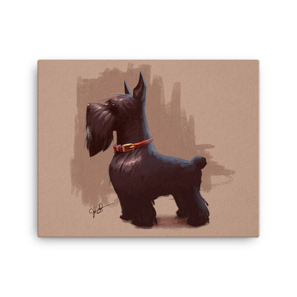 London Dog Canvas