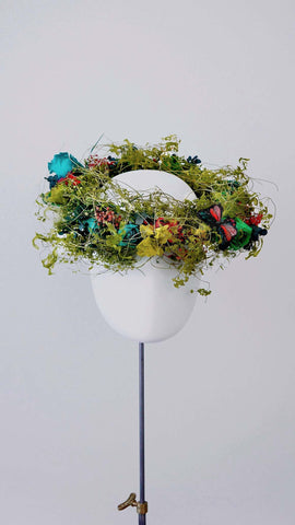 Preserved flower crown