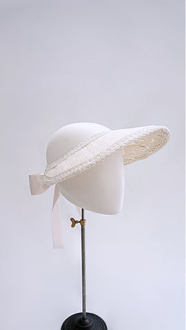 Embroidery lace visor.