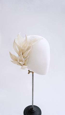 Calla lily bouquet headpiece .