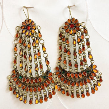Balia Long Afghan Earrings