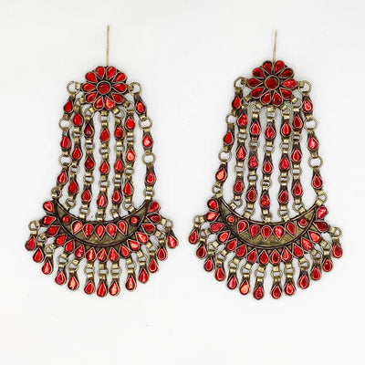 Dalia Long Afghan Earrings