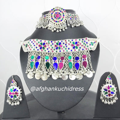 Afghan Silver Large  Jewellery Set
