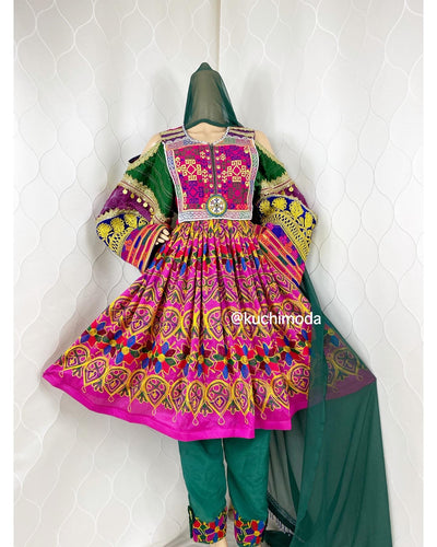 Dahliya Afghan Kuchi Dress