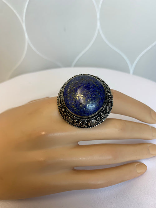 Afghan Ring Navy