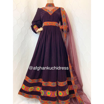 Zaida Afghan Dress