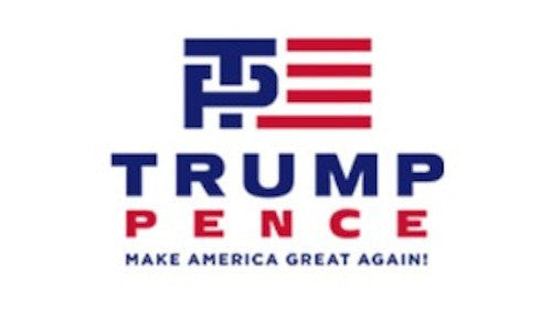The new Trump-Pence logo – Clever or Colossal Blunder?