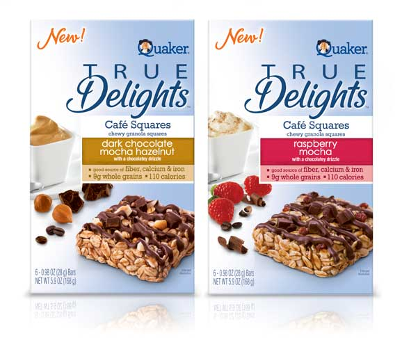 Packaging of Quaker's True Delights