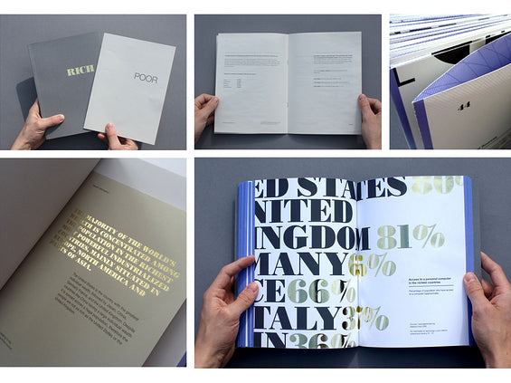 Book design with gold foil stamping