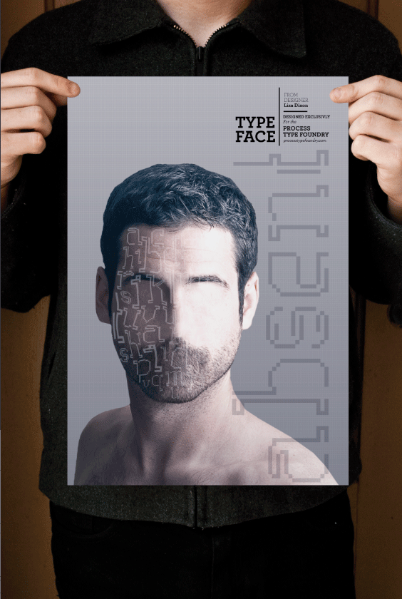 Absent Bitmap Typeface Poster design