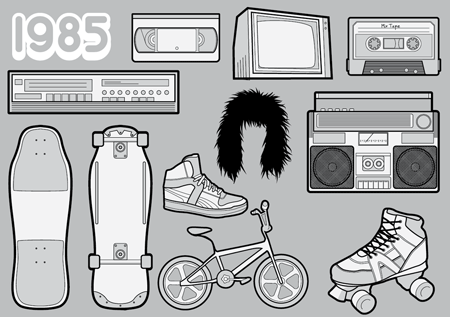 1980s free vector pack