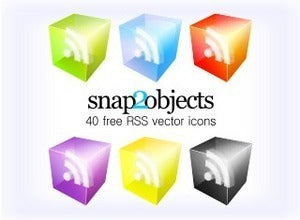 free 3D RSS vector icons