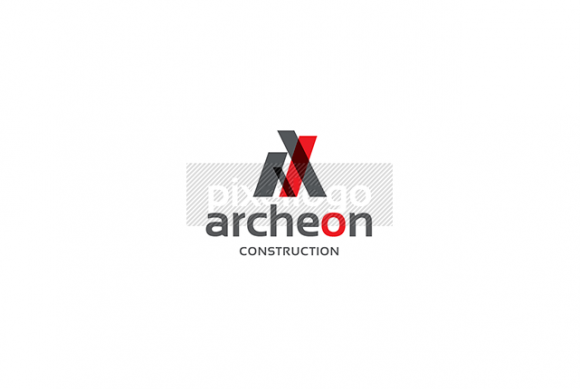 Architectural logo with transparency