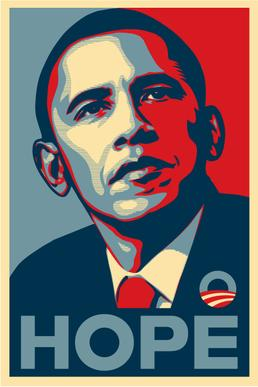 Obama 2008 Shepard Fairey inspired election poster
