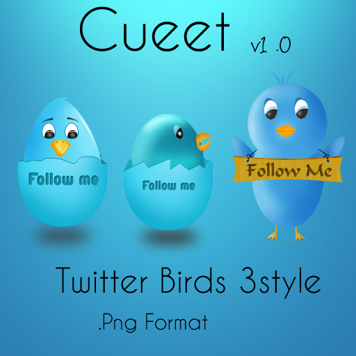 Cueet twitter bird icons free by Sandeshs1