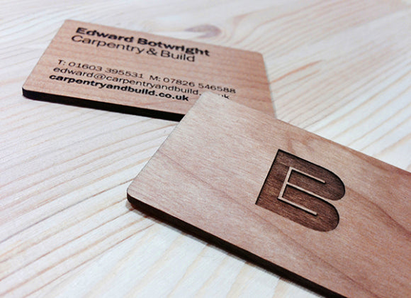 EB Carpentry business card