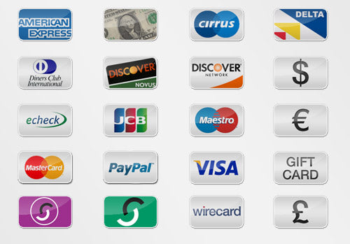 Free payment credit card icons