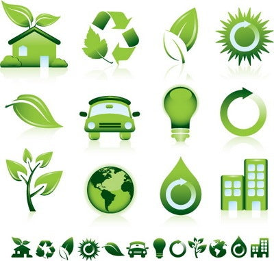 Green Eco-friendly Vector Icons