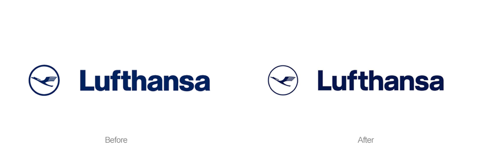 Lufthansa New Logo Color and adjustment