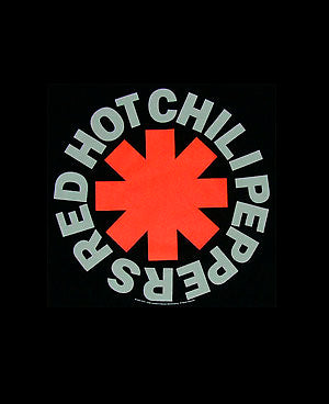 Red hot chili peppers band logo design