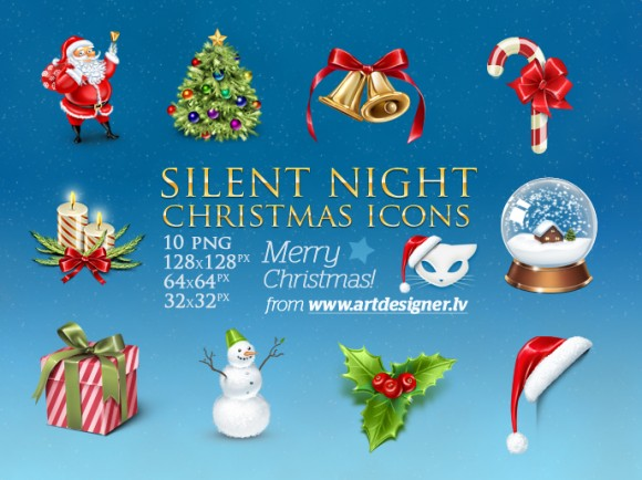 Silent Night Christmas icons by LazyCrazy