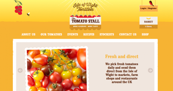The Tomato Stall website