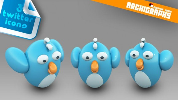 Twitter dock icons by Cyberella74