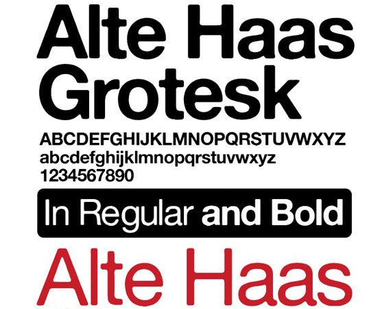alte haas grotesk font