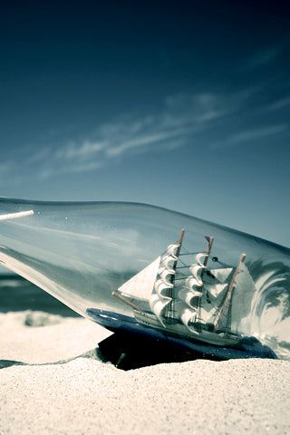 boat bottle iphone-wallpaper