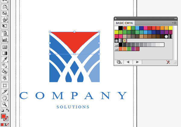 Screen shot of how to change the colour of an elelment of your logo design
