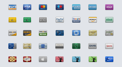 credit card icon set by GraphicPeel