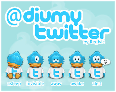Diumy Twitter Icons by Regivic