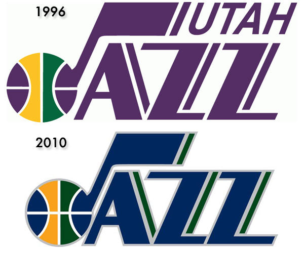 Utah Jazz NBA Logo Design - New and Old