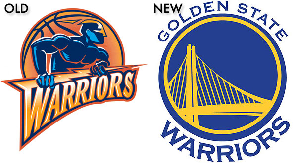 Golden State Warriors NBA Logo Design - New and Old
