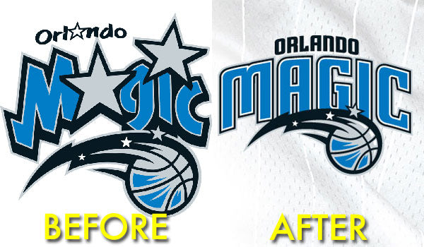 Orlando Magic NBA Logo Design - New and Old