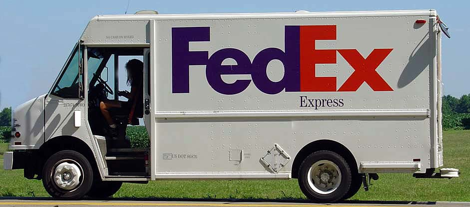 federal express truck and FedEx logo design