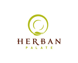 Herban palate restaurant logo design