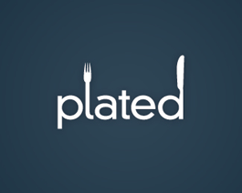 Plated restaurant logo design