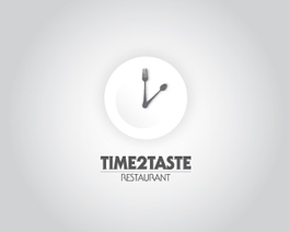 Time 2 Taste restaurant logo design