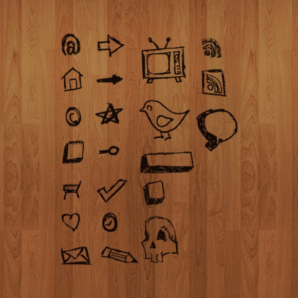 hand-drawn free vector icons