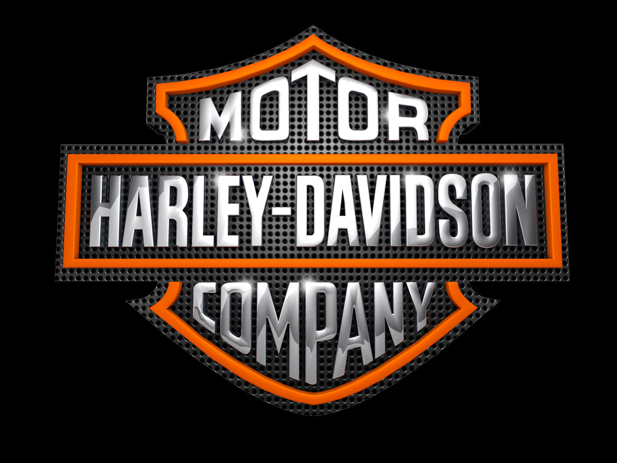 3D color Harley Davidson Sign | Pixellogo