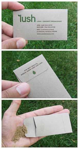lush business cards