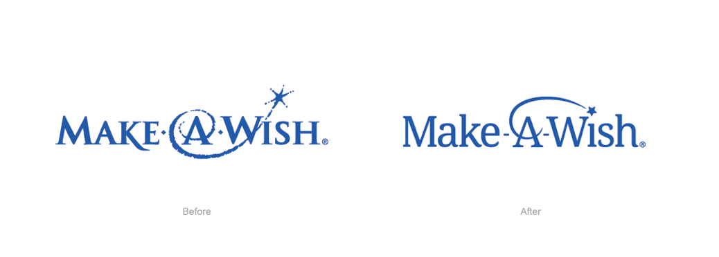 Make a wish logo before and after
