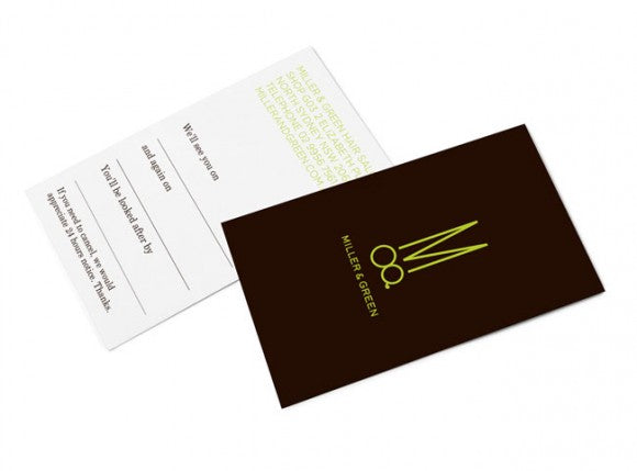 Miller & Green business card design