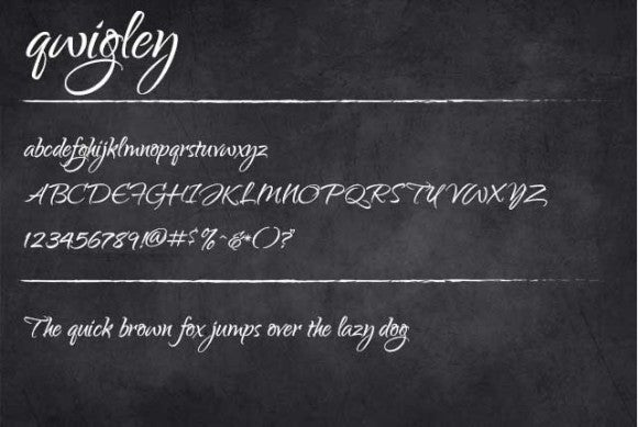 Qwigley free font to download