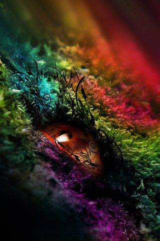 rainbow eye iphone wallpaper
