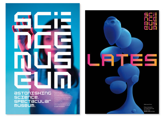 The London Science Museum's new banner designs