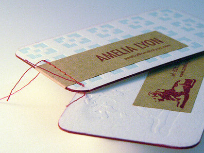 threaded business cards design