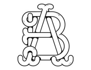 AB Monogram logo design